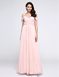 2017 TS Couture® Formal Evening Dress A-line Straps Ankle-length Chiffon with Criss Cross