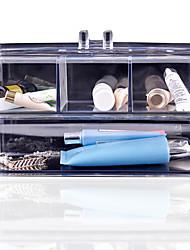 Acrylic Cosmetic Organiser Makeup Storage Box Plastic Case Acrylic Organizador Rangement