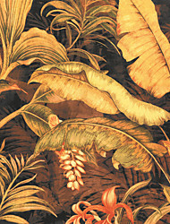 JAMMORY Wallpaper For Home Wall Covering Canvas Adhesive required Mural Large Yellow Banana Leaf3XL(14'7''*9'2'')