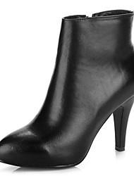 Women's Boots Winter Fashion Boots Leather Dress Casual Stiletto Heel Others Black Others