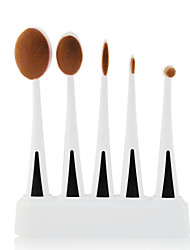 5 Makeup Brushes Set Synthetic Hair Professional / Travel / Synthetic / Portable Plastic Face / Eye / LipMAKE-UP FOR YOU