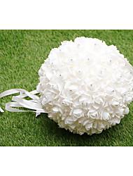 Fleurs de mariage Rond Roses Bouquets Mariage Satin Env.32cm