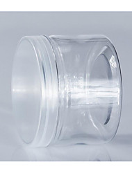Transparent Cylinder Cookie Jar Plastic Cookie Jar Food Plastic Bottle 280ml/L8565-30 White Transparent