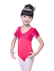 Ballet Leotards Children's Training Cotton / Velvet Ruched 1 Piece  BalletShort  Kid's Dance Costumes