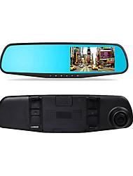 4,3 pouces surveillance de stationnement vision rétroviseur voiture enregistreur double lentille hd 1080p nuit