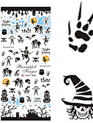 1 pcs Nail Art Water Transfer Halloween Sticker Colorful Image Nail Beauty HOT306