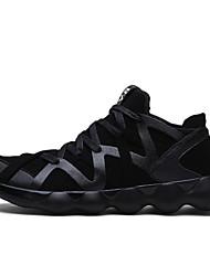 Da uomo-Sneakers-Sportivo-Ballerine-Piatto-PU (Poliuretano)-Nero / Nero e oro / Nero e bianco