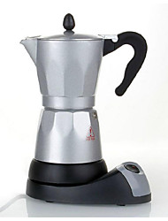 Electric Moka 6 Servings Aluminum Electric Coffee Maker Electric Coffee Pot Lazy