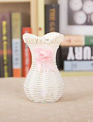 Hand-Woven Rattan Vase Flower Baskets Pastoral Creative Home Decorations