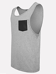 Men's Solid Casual Tank Tops,Cotton Sleeveless-Black / White / Gray