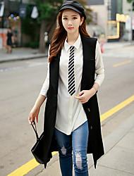dabuwawa femmes sortir / travail / millésime de vacances / rue chic et / vestes sophistiquées, chemise solide col sans manches