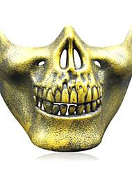 três gerações de máscara chefes crânio cs equipamentos de combate enfrentar metade protectora guerreiro máscara de esqueleto halloween