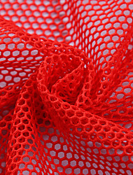 Polyester Fabric Red / White Apparel Fabric & Trims
