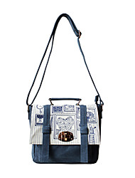 Flower Princess® Women Canvas Shoulder Bag Blue-1402X001