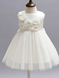 Baby Girl's White/Red Dress, Flower Polyester All Seasons