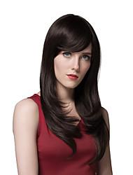 meilleur super long cheveu humain droite naturel élégant perruques 24 pouces