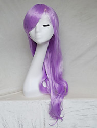 perruque blonde cosplay couleur pourpre jeté longs points de 30inch perruque de cheveux bouclés