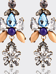 High Quality Vintage Ethnic Style Drop Earrings Retro Crystal Big Bohemian Dangle Earrings Fashion Jewelry Women