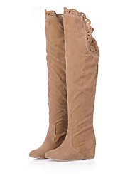 Women's autumn and winter fashion within increased boots / knee boots stovepipe round / daily / dresses