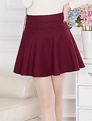 Damen Röcke - Einfach / Niedlich Übers Knie Andere Mikro-elastisch