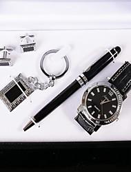 Masculino Relógio Elegante Quartz / Couro Banda Casual Preta marca