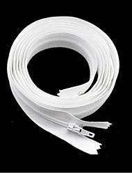 Visible Zipper Nylon / Plastic White
