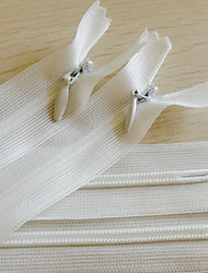 Zipper visible Nylon Blanc