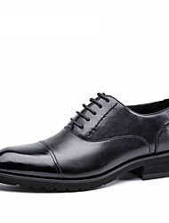 Men's Shoes genuine leather flat male shoes Cowhide Wedding oxford shoes black classical shoes