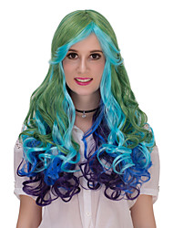 The grass green gradient long hair wig.WIG LOLITA, Halloween Wig, color wig, fashion wig, natural wig, COSPLAY wig
