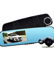 Before And After The 4.3 Inch Big Screen Recorder Lanbo HD Wide-Angle Rearview Mirror With Double Vision