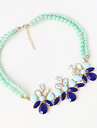 Women's Choker Necklaces Alloy Simulated Diamond Fashion Blue Jewelry Wedding Party Daily Casual 1pc