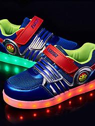Garçon-Extérieure-Noir Bleu-Talon Plat-Confort Light Up Chaussures-Baskets-Tulle