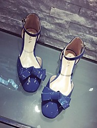 Women's Sandals Spring / Summer / Fall Sandals PU Casual Low Heel Bowknot Blue / Pink / Gray Others