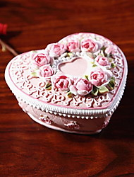 Resin Rose Border Jewelry Box for Girlfriend Storage Box for Home