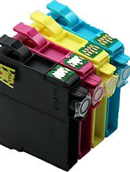 cartuchos de impressora, um pacote de 4 (r / bk / y / b)