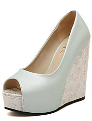 Women's Shoes Leatherette Spring / Fall Heels / Peep Toe Heels Party & Evening Wedge Heel Others Others