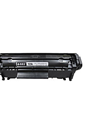 fácil de adicionar cartuchos de pó hp hp12a 1020 1010 1018 páginas 1022 3050 M1005 Q2612A impressos 2000