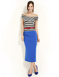 JoanneKitten@ Women's Bateau Striped Multi-color Vintage/Sexy/Bodycon/Party/Work/Plus Sizes Sleeveless