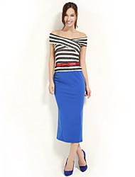 JoanneKitten@ Women's Bateau Striped Multi-color Vintage/Sexy/Bodycon/Party/Work/Plus Sizes Sleeveless