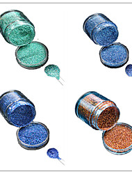 1 Bottle Nail DIY Beautiful Color Colorful Laser Glitter Powder Nail Beauty Decoration L09-12