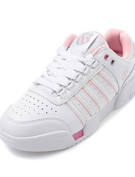 Women's Sneakers Fall Comfort Leather Office & Career / Casual Flat Heel Others Pink / White Fitness Training