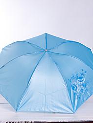 7K Rod Pearl Portable Three Folding Umbrella