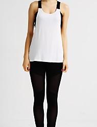 MIDUO® Women's Sleeveless Running Vest/Gilet Breathable Quick Dry Spring Summer Sports Wear Running Modal Slim White Patchwork