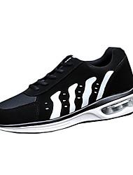 Herren-Flache Schuhe-Outddor-PU-Flacher Absatz-Rundeschuh-Blau / Schwarz und Rot / Schwarz und Weiss