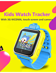 "lekemi Kinder GPS-Uhr-Tracker 1.54 ""Touch Screen Android os sos rufen 3G WCDMA (900 / 2100MHz)"