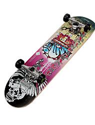 klassische Skateboard (70 * 42mm) pink / gelb