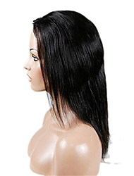 NEW Style!  Natural Straight Jet Black Color 100% Human Hair Remy Hair Pop Lace Wigs 8-26 Inch