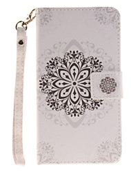 Painted Datura Flowers Pattern Card Can Lanyard PU Phone Case For LG G3 G4 G5 K7 K8 K10