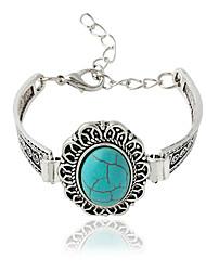 Bracelet Chaînes & Bracelets Alliage Forme Ovale Bohemia style Bijoux Cadeau Argent,1pc