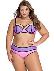 Women's  Vibrant Colorblock Plus Size Swimsuit